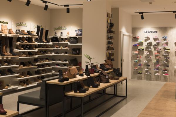 Mueble para tienda de zapatos