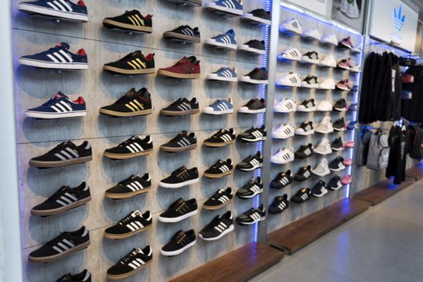 Sistema PUC en zapatillas deportivas